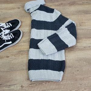 Croft & Barrow striped gray knit sweater